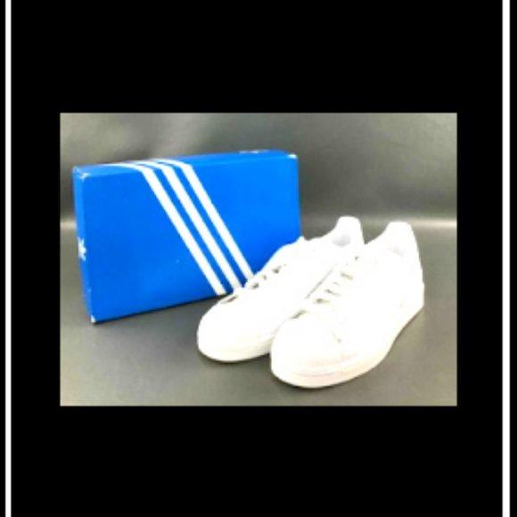 New Men's Rare Adidas White Superstar Shoes